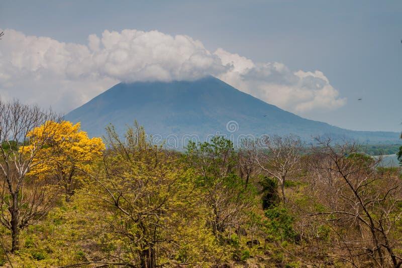 Volcán de Concepción en la isla de Ometepe, Nicarag imagen de archivo