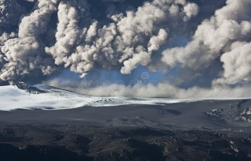 Volcán de Eyjafjallajokull foto de archivo