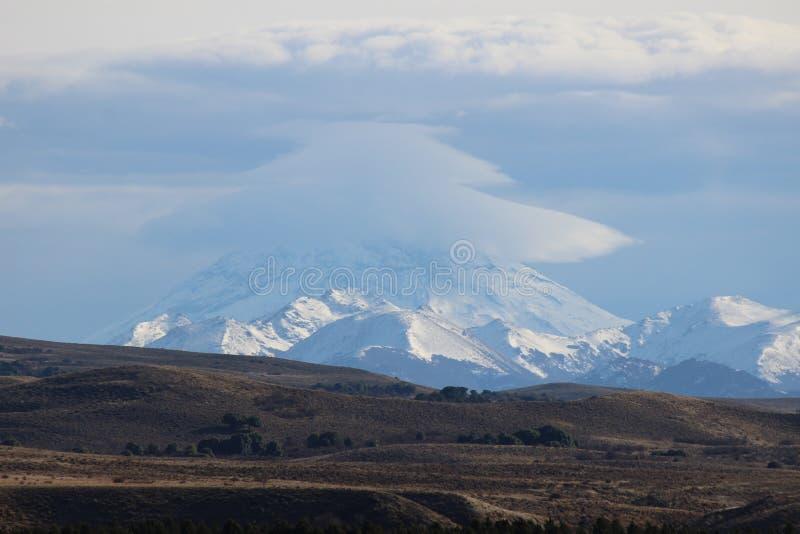 Volcán de Lanin foto de archivo