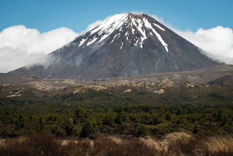 Volcán de Ngauruhoe del soporte, Nueva Zelanda foto de archivo libre de regalías