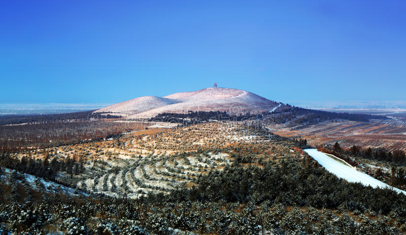 Volcán de Pailou foto de archivo