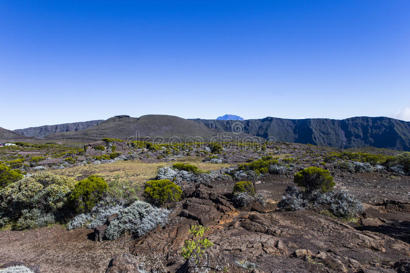 Volcán de Piton de la Fournaise, Reunion Island, Francia imágenes de archivo libres de regalías
