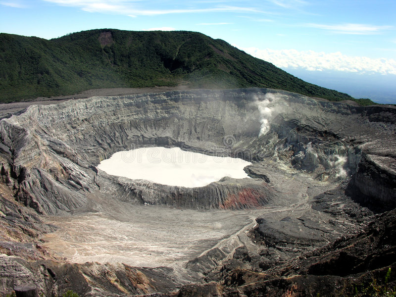 Volcán de Poas fotografía de archivo libre de regalías
