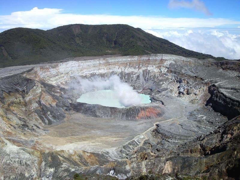Volcán de Poas, Costa Rica fotografía de archivo