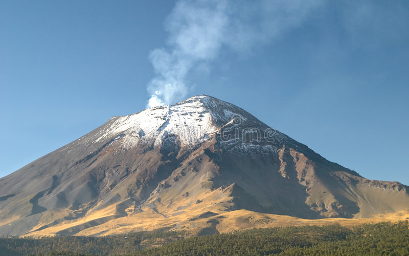 Volcán de Popocatepetl fotos de archivo libres de regalías