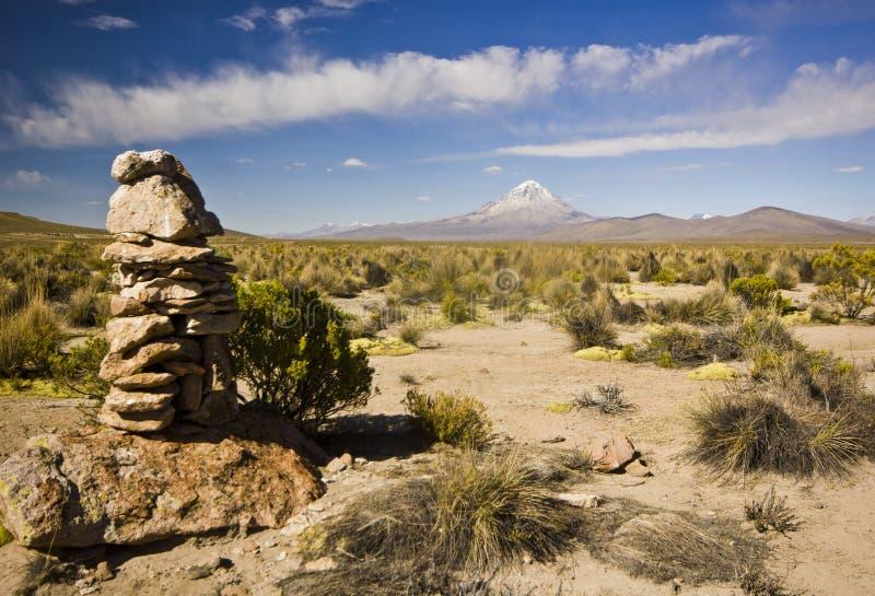 Volcán de Sajama en Bolivia fotos de archivo
