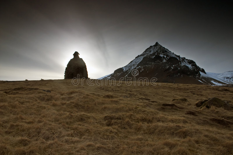 Volcán de Snaefells en Islandia imagen de archivo libre de regalías