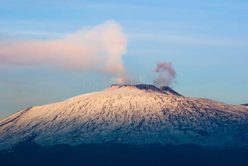Volcán el Etna fotos de archivo