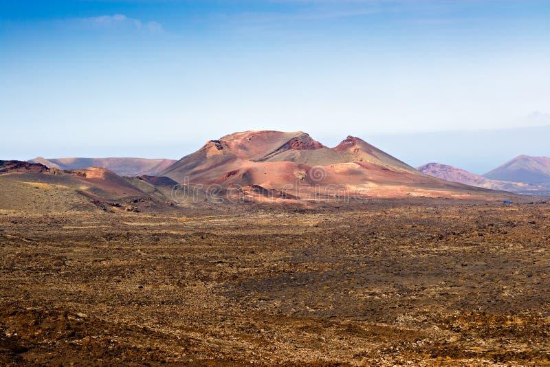 Volcán en Timanfaya, Lanzarote imágenes de archivo libres de regalías