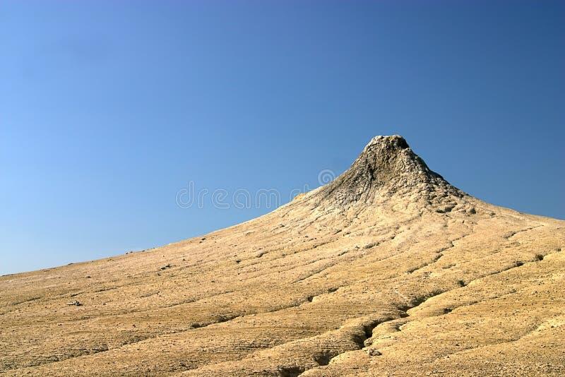 Volcán extinto del fango fotografía de archivo libre de regalías
