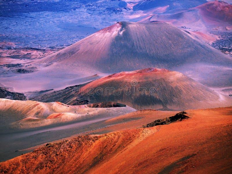 Volcán Maui Hawaii de Haleakala fotografía de archivo