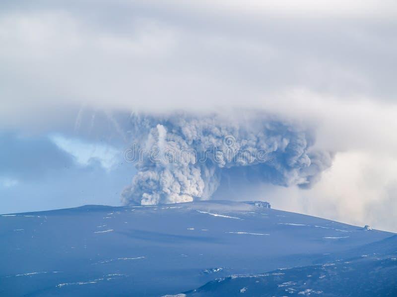 Volc?n de Eyjafjallajokull, Islandia fotos de archivo