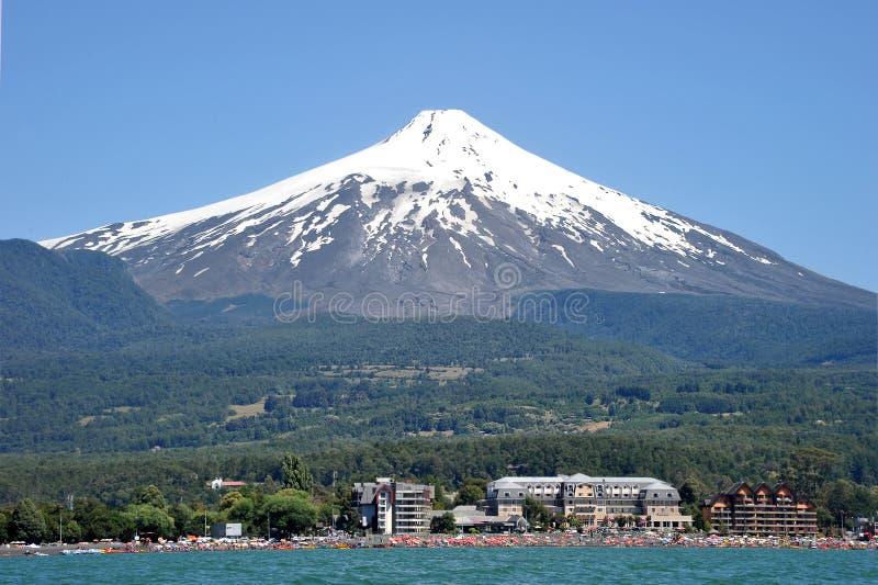 Volcan维利亚里卡火山,智利 库存照片