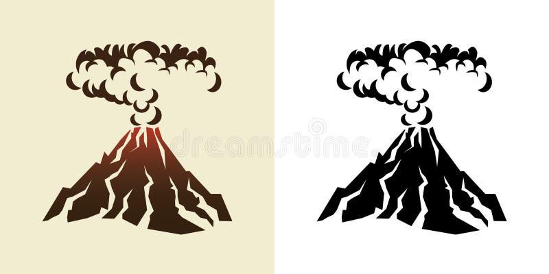 volcan illustration stock