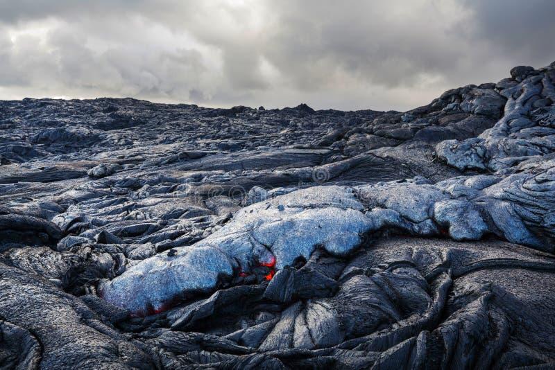 Volcan actif photographie stock