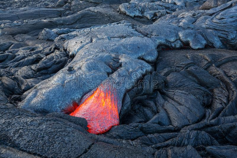 Volcan actif image libre de droits