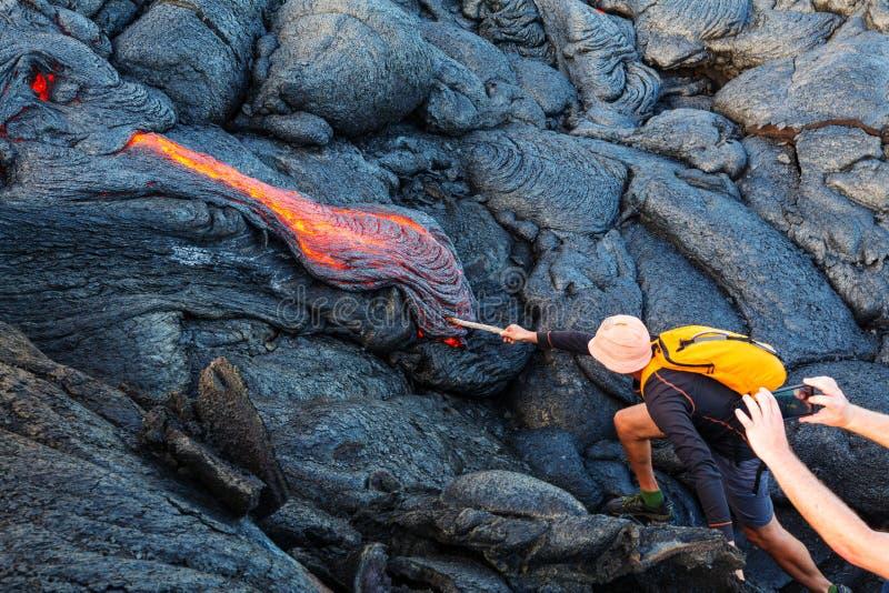 Volcan actif photo libre de droits