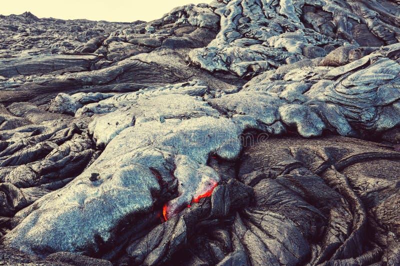 Volcan actif photo stock