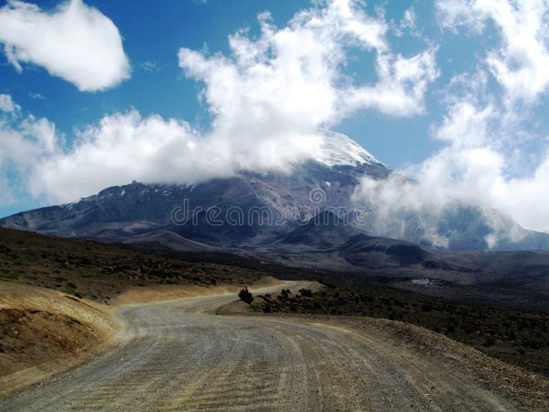 Volcan Chimborazo en Ecuador imagenes de archivo
