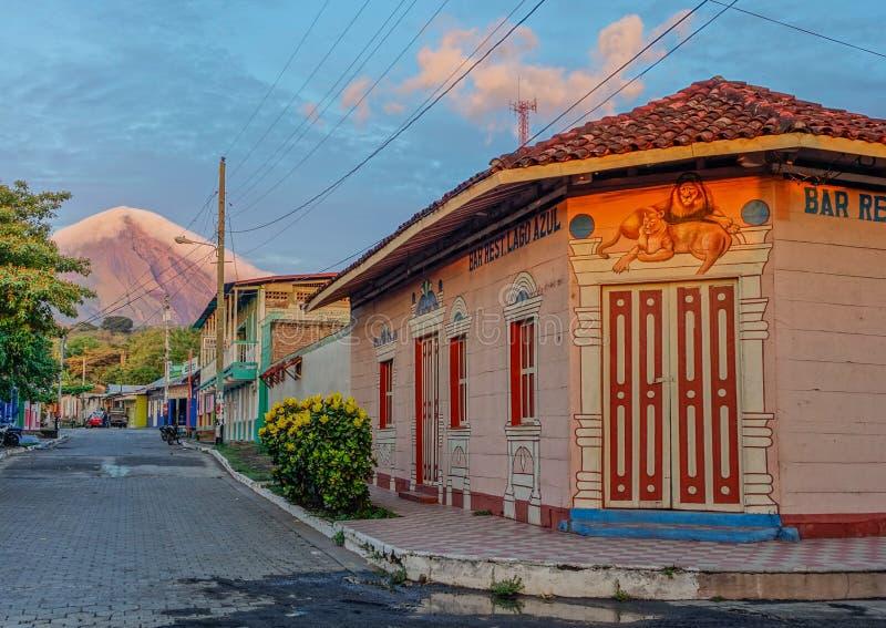Volcan Concepción in Ometepe-Eiland royalty-vrije stock afbeelding