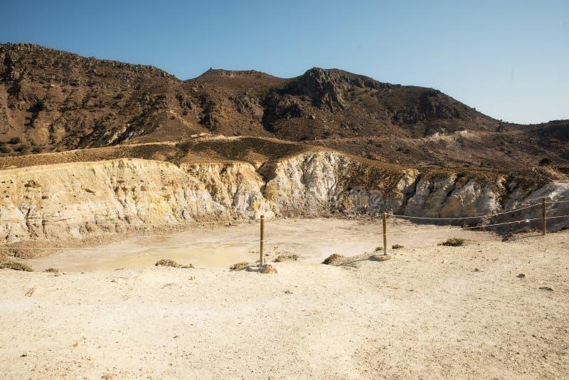 Volcan d'île de Nisyros image libre de droits