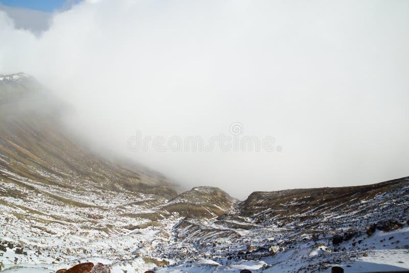 Volcan d'Aso en hiver ; Japon images stock