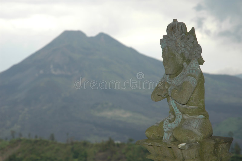 Volcan dans Bali image stock