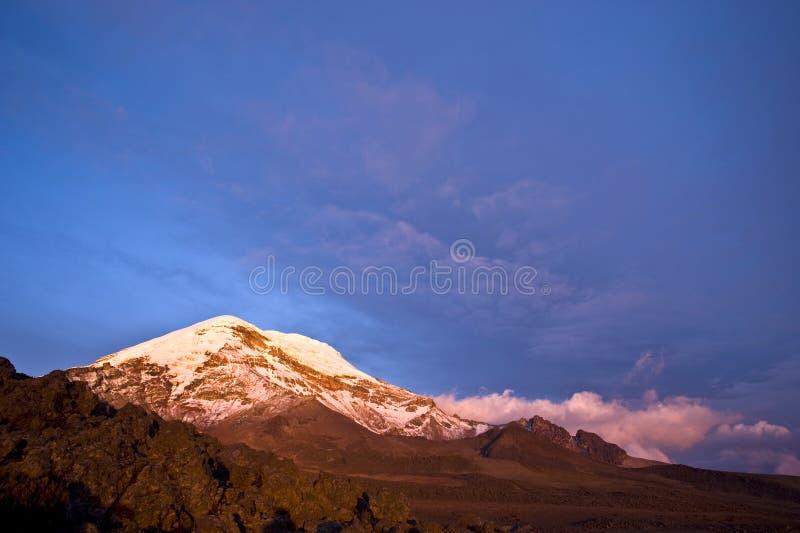 Volcan de Chimborazo. Équateur photographie stock