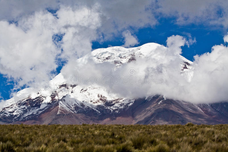 Volcan de Chimborazo en Equateur andin images libres de droits
