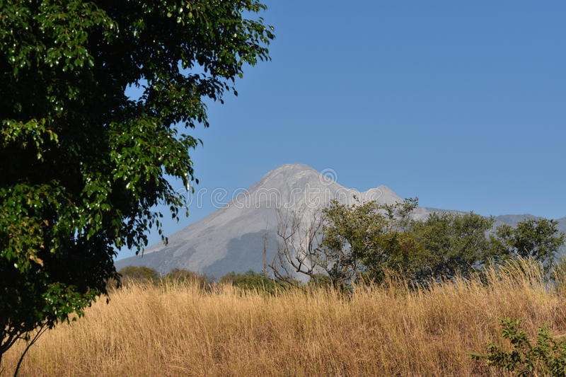 Volcan de Colima - Colima Volcano royalty free stock image
