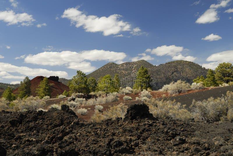 volcan de coucher du soleil de cratère de l'Arizona image libre de droits