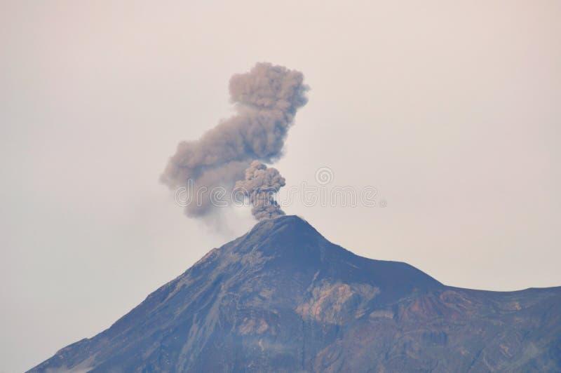 Volcan de Fuego, Guatemala. The active volcano Volcan de Fuego, Antigua, Guatemala stock photography