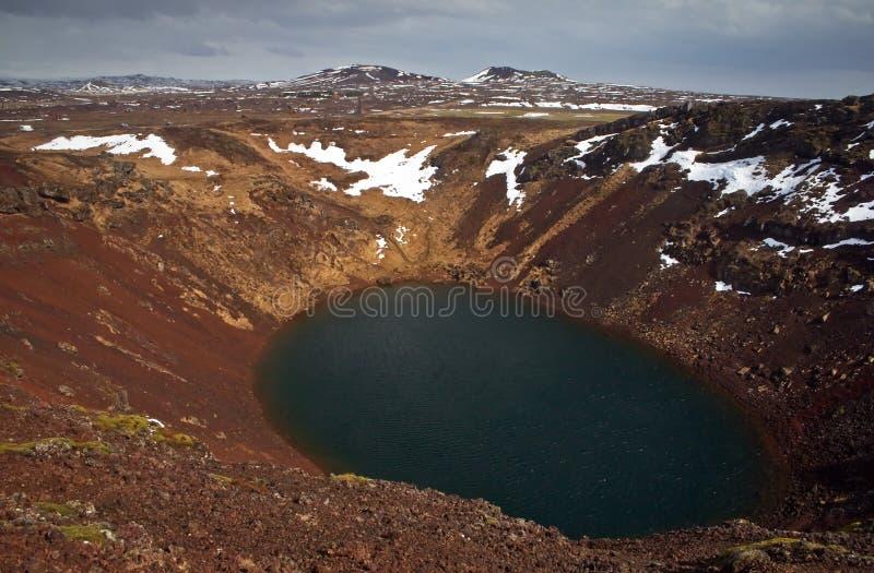 Volcan de Kerith photos libres de droits