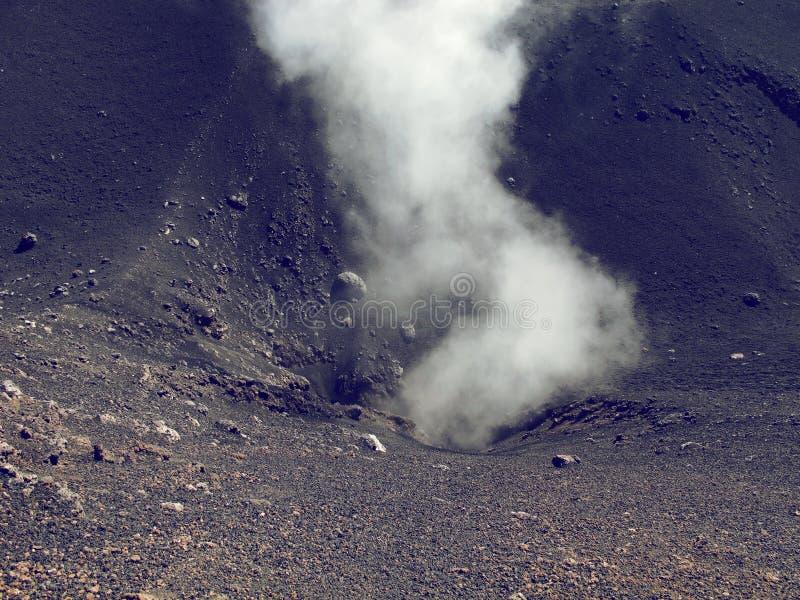 Volcan de l'Etna de support dans l'action image libre de droits
