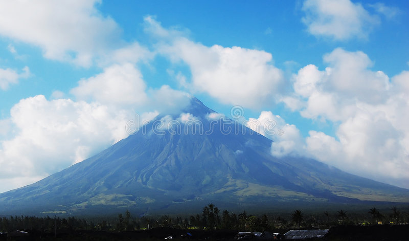 Volcan de Mayon photo libre de droits