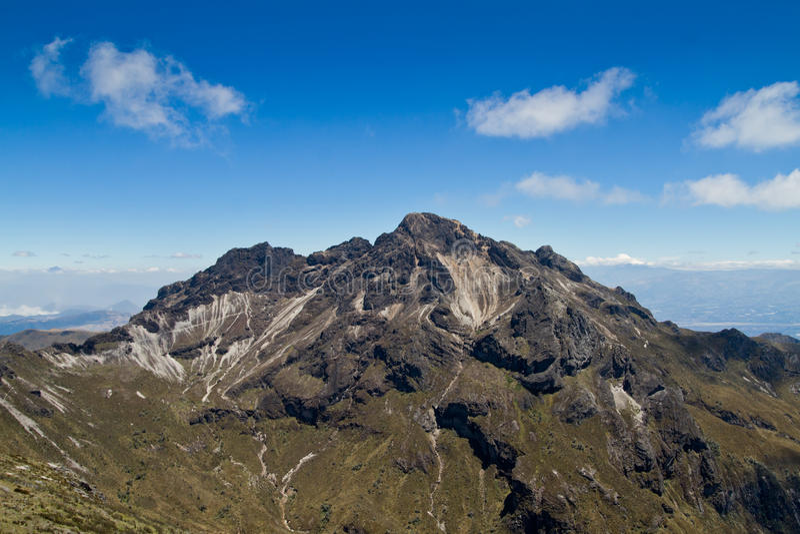 Volcan de Pichincha dedans tout près de Quito, Equateur photographie stock