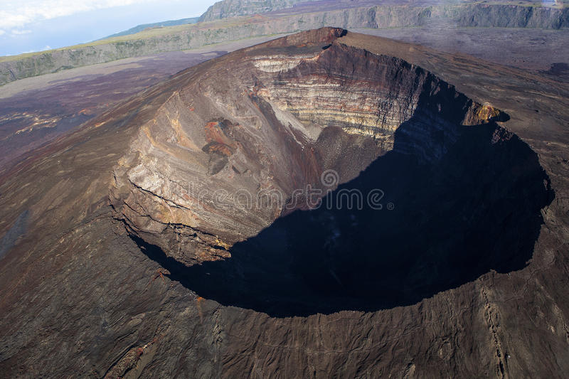 Volcan de Piton de la Fournaise, Reunion Island, France photo stock