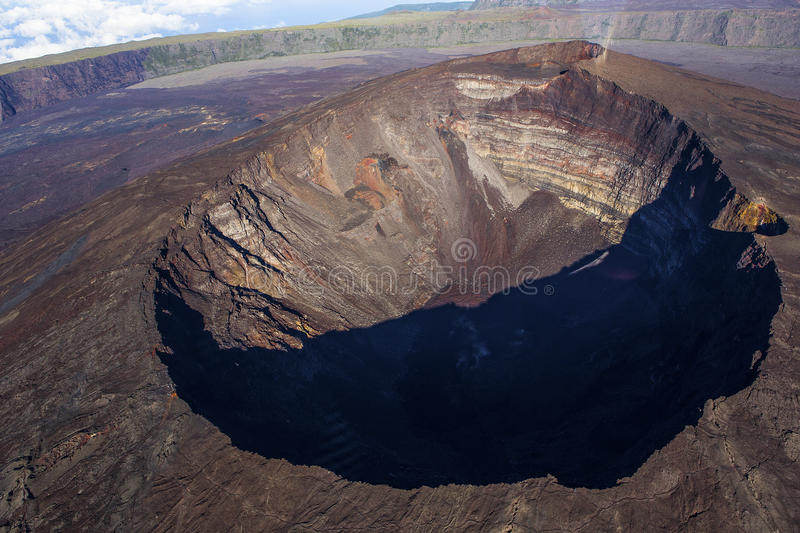 Volcan de Piton de la Fournaise, Reunion Island, France photos stock