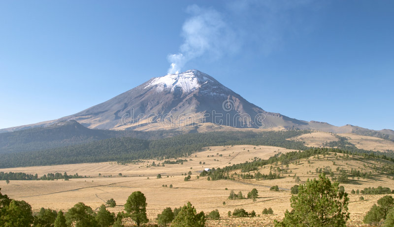 Volcan de Popocatepetl photo libre de droits