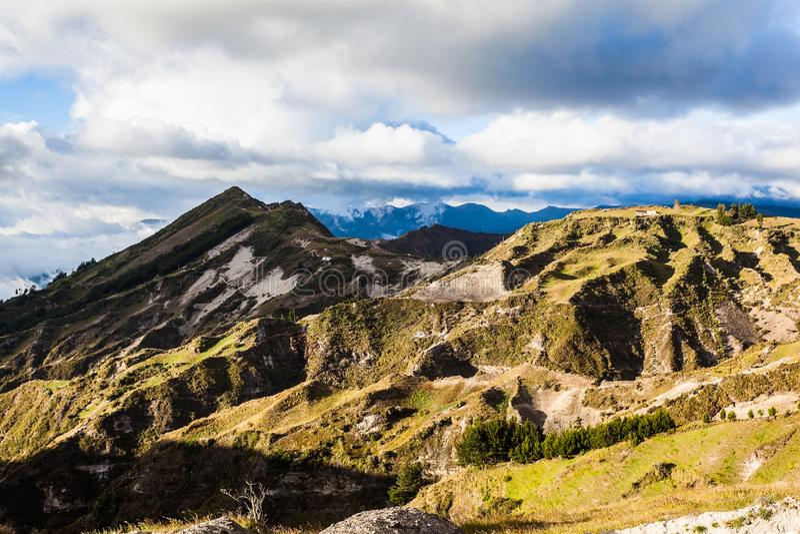 Volcan de Quilotoa image stock