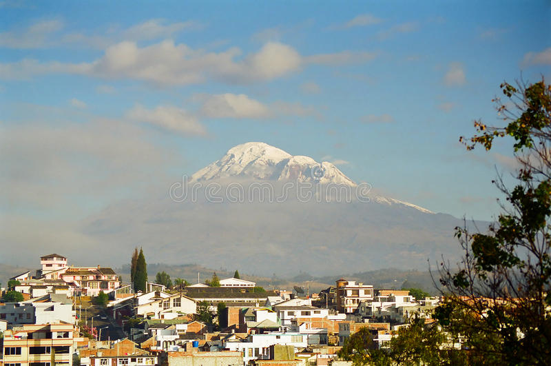 Volcan de Riobamba et de Chimborazo, Equateur photo stock