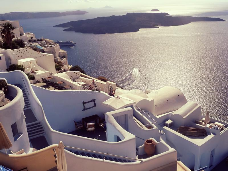 Volcan de Santorini image libre de droits