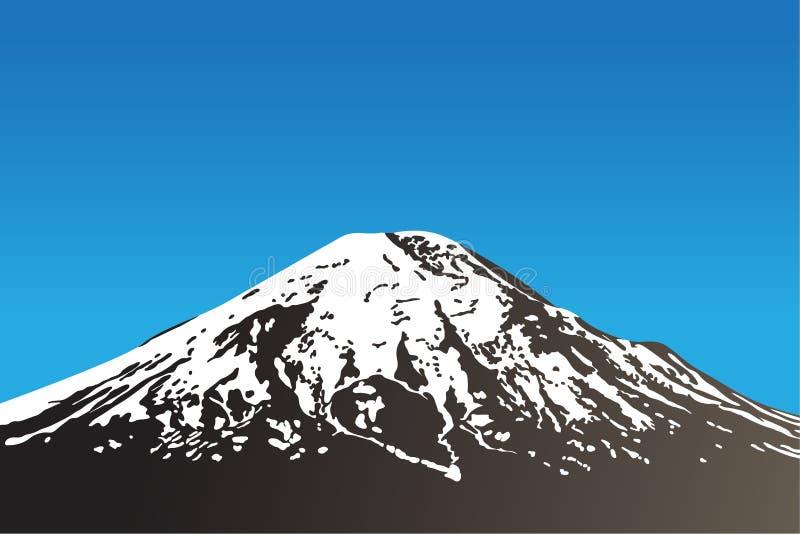 Volcan dormant illustration libre de droits