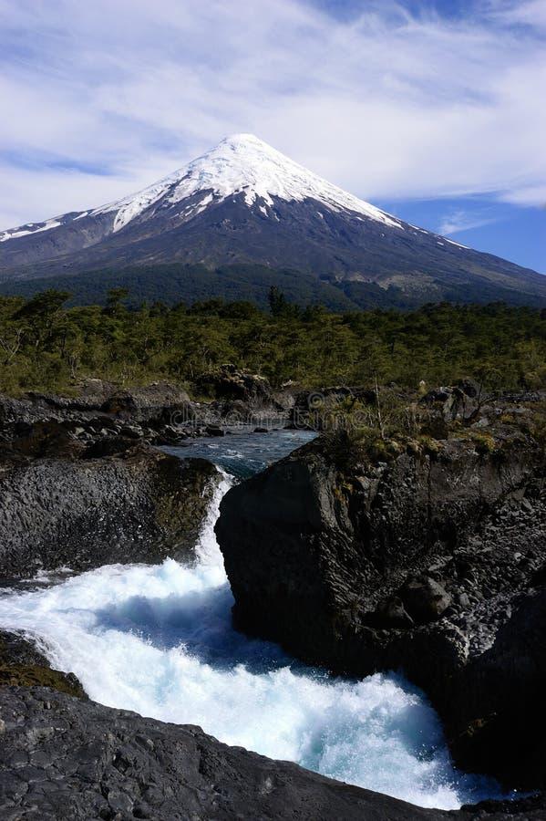 Volcan Osorno in Chili stock afbeeldingen