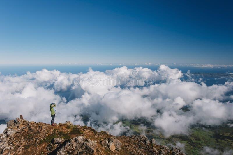 Volcan s'élevant de Pico sur les Açores photographie stock