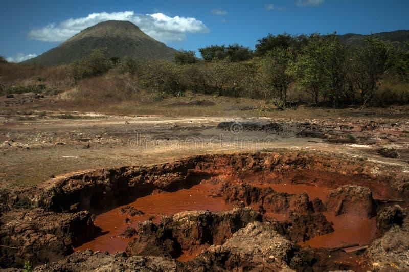 Volcan Telica bij de basis, Nicaragua royalty-vrije stock foto's