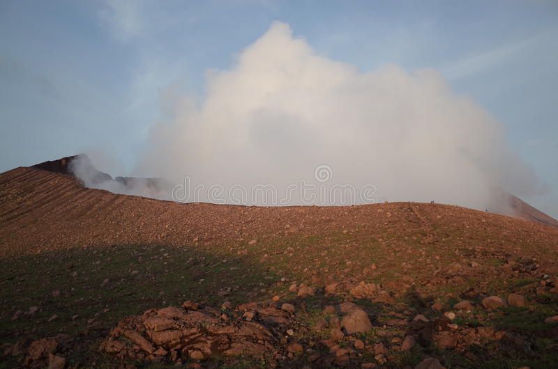 Volcan Telica. The crater of Volcan Telica spewing hot ash out near Leon in Nicaragua royalty free stock photos