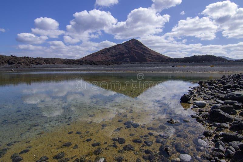 Volcan Timanfaya dans les îles canariennes photographie stock libre de droits