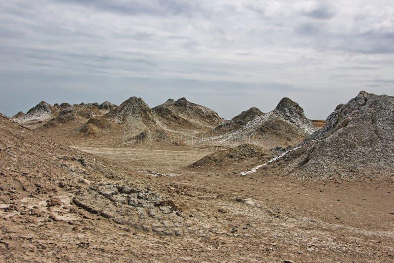 Volcanes del fango en la región de Gobustan de Azerbaijan imagen de archivo libre de regalías