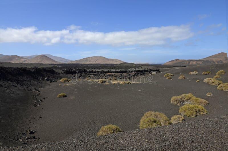 Volcanes en el parque nacional de Timanfaya, Lanzarote imagenes de archivo